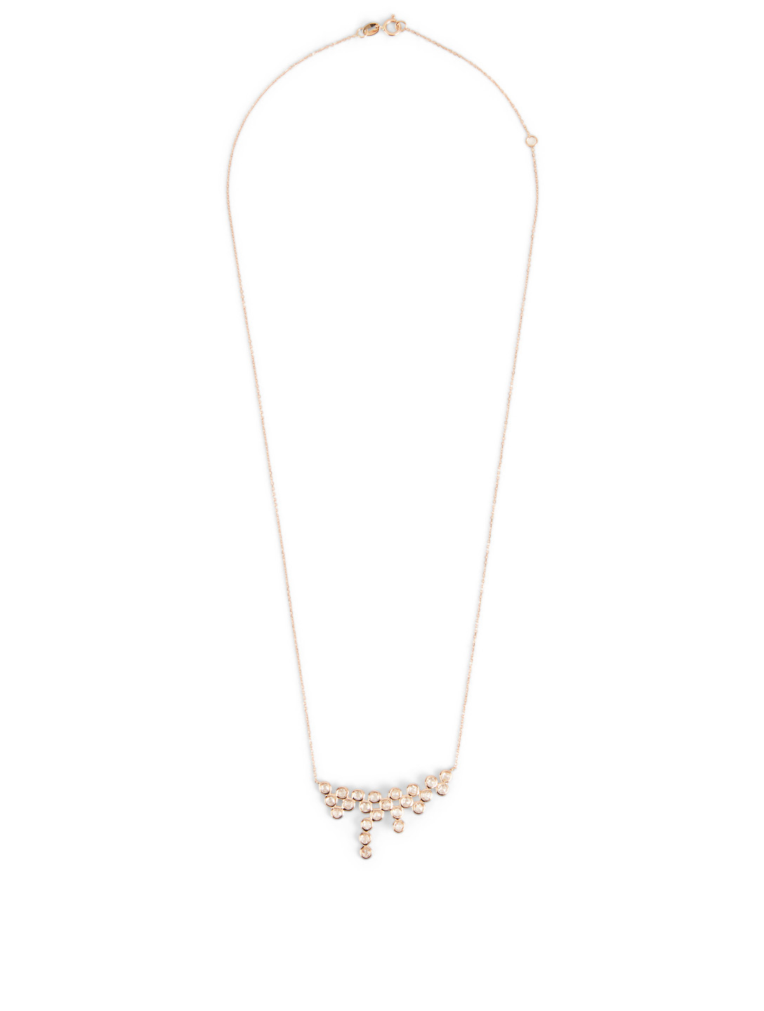 LITO Mist 18K Rose Gold Necklace With Diamonds Women's Metallic