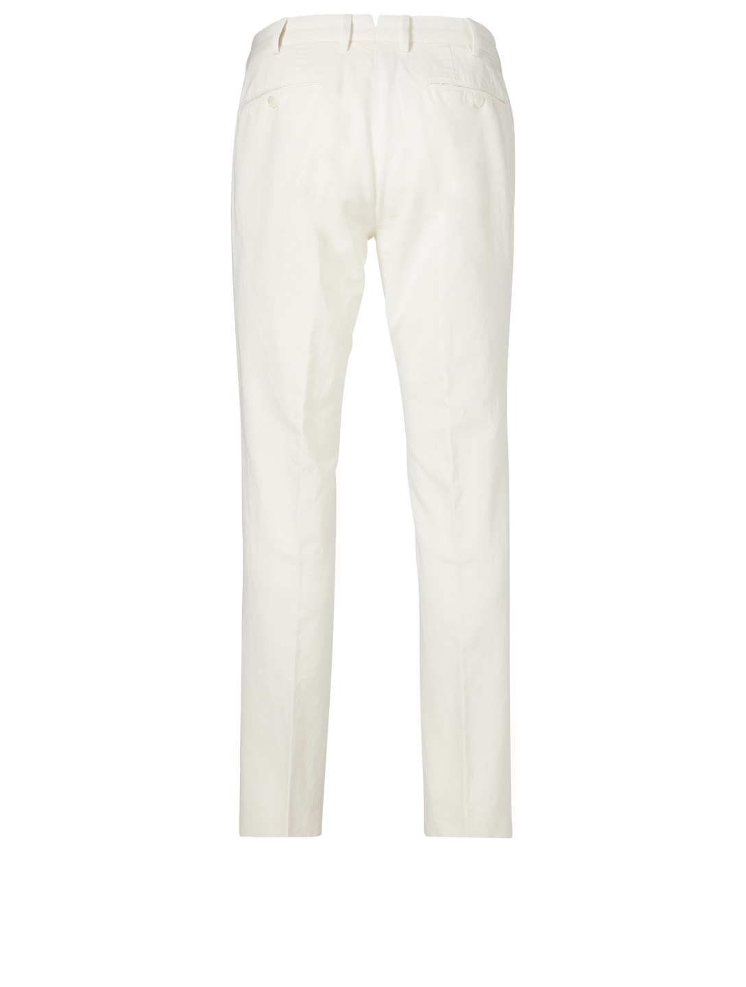 ERMENEGILDO ZEGNA Cotton And Linen Pants Men's White