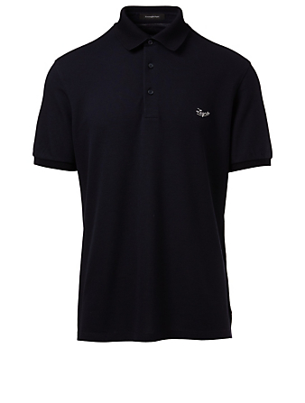 ERMENEGILDO ZEGNA Polo Shirt Men's Blue
