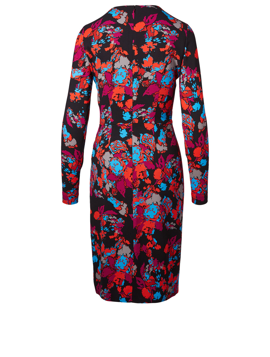GIVENCHY Crêpe Dress In Floral Print Womens Multi