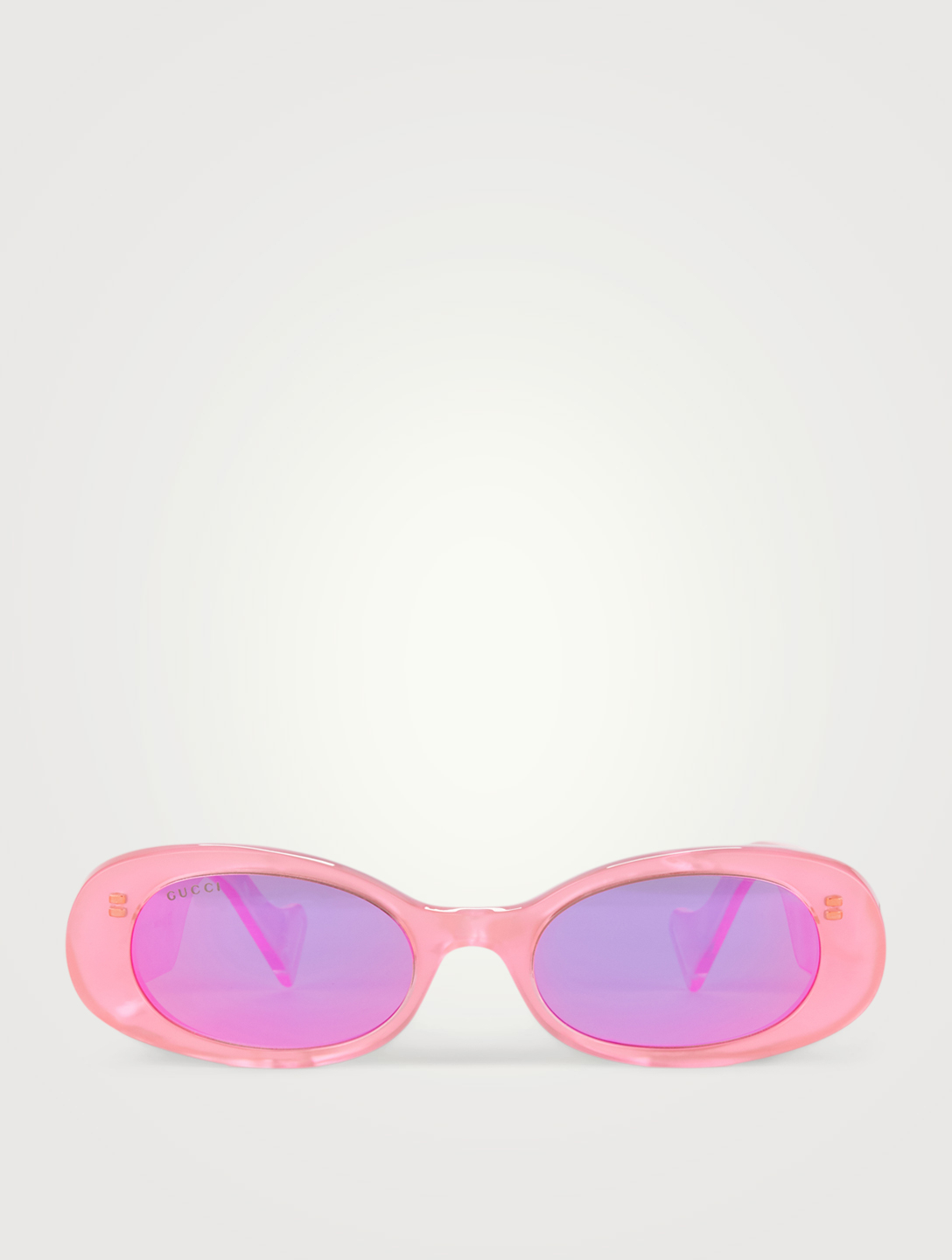 GUCCI Oval Sunglasses Women's Pink