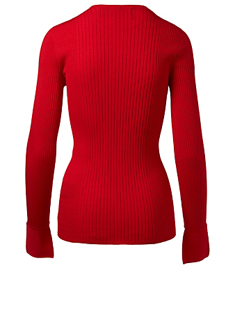 JUUN J Ribbed Sweater Womens Red
