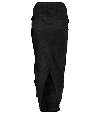 RICK OWENS Long Soft Pillar Skirt Women's Black