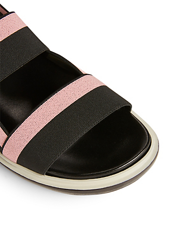 MARNI Fussbett Nylon Ribbon Sandals Womens Black