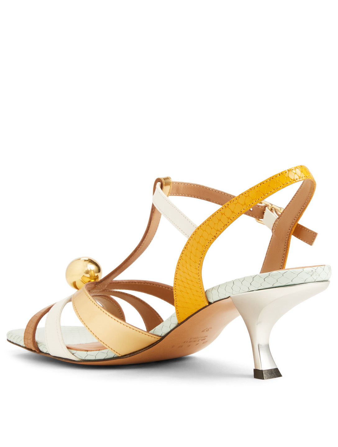 ccecf4d8c ... Women s Gold  MARNI Metallic And Snake-Embossed Leather Heeled Sandals  Women s ...