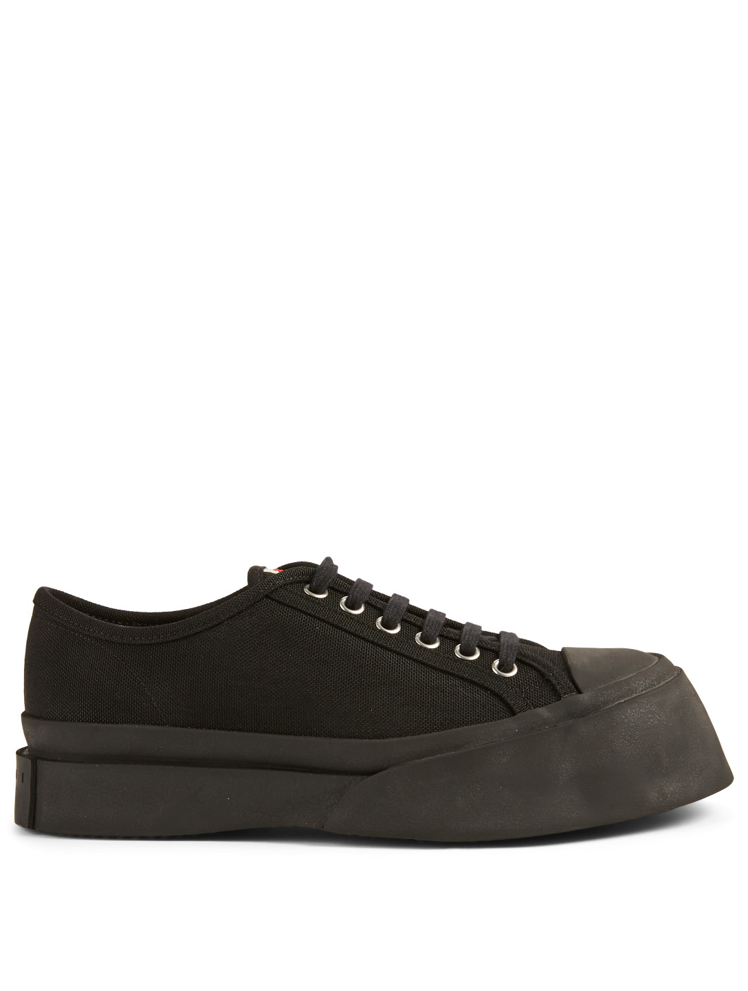MARNI Canvas Platform Sneakers Womens Black