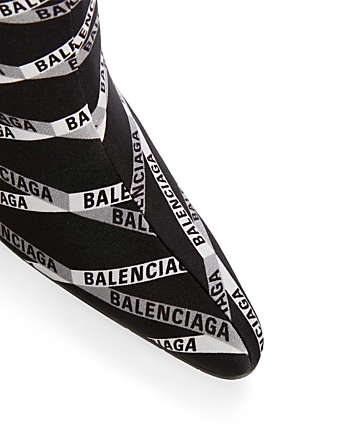 BALENCIAGA Monogram Stretch Knit Boots Designers Black