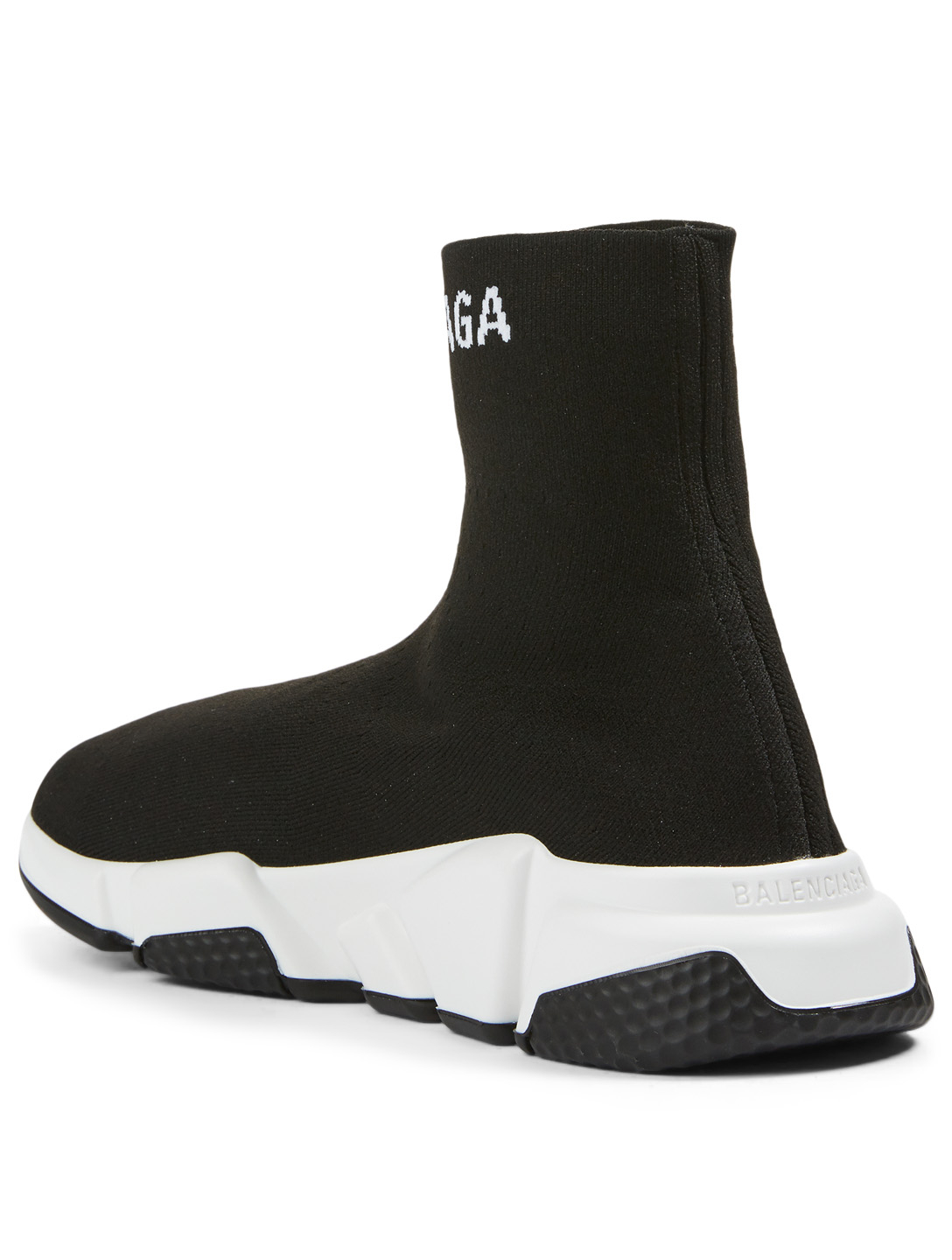 BALENCIAGA Speed Logo High-Top Sock Sneakers Women's Black