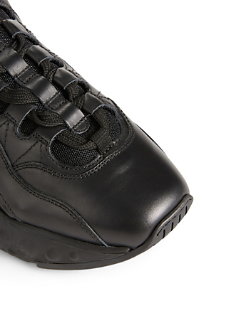 ACNE STUDIOS Manhattan Leather Technical Sneakers Women's Black