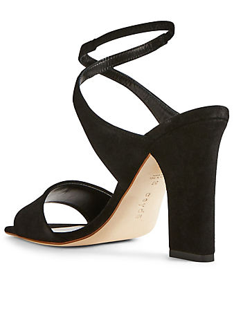 AEYDE Gabriella Suede Heeled Sandals Women's Black
