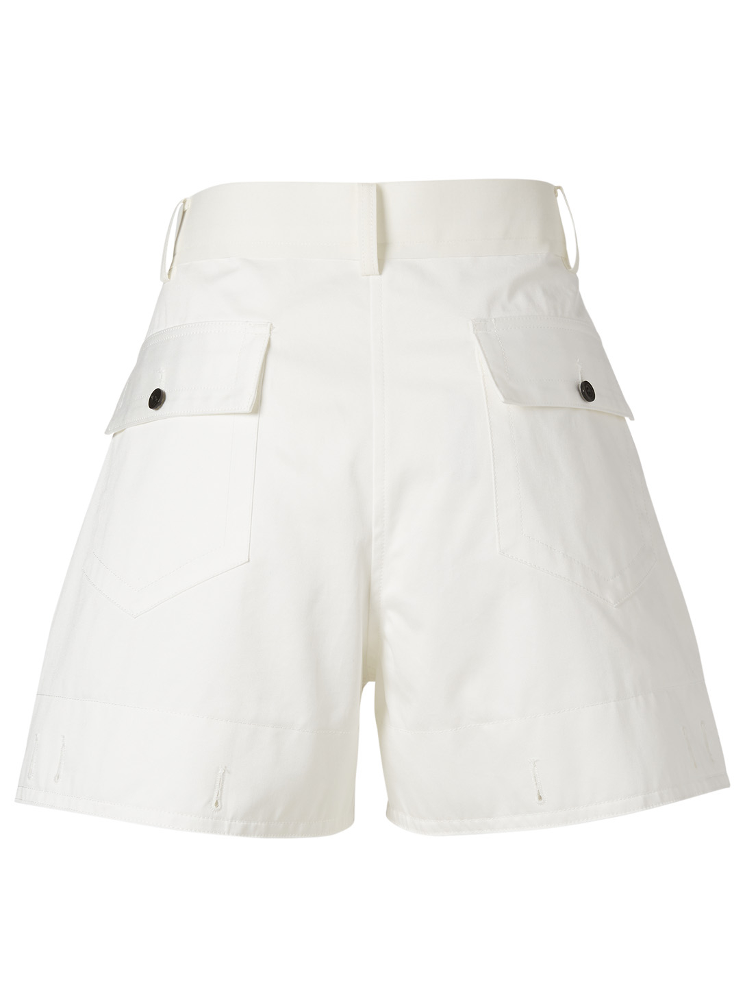 SACAI Shorts With Grommet Detail Women's White