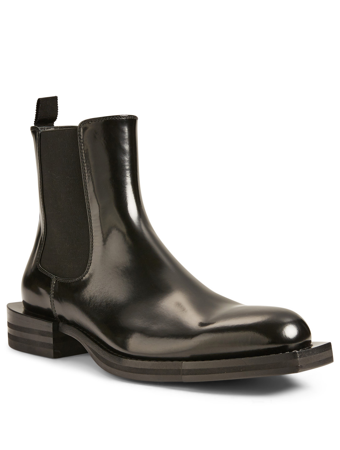 ALEXANDER MCQUEEN Leather Chelsea Boots Men's Black