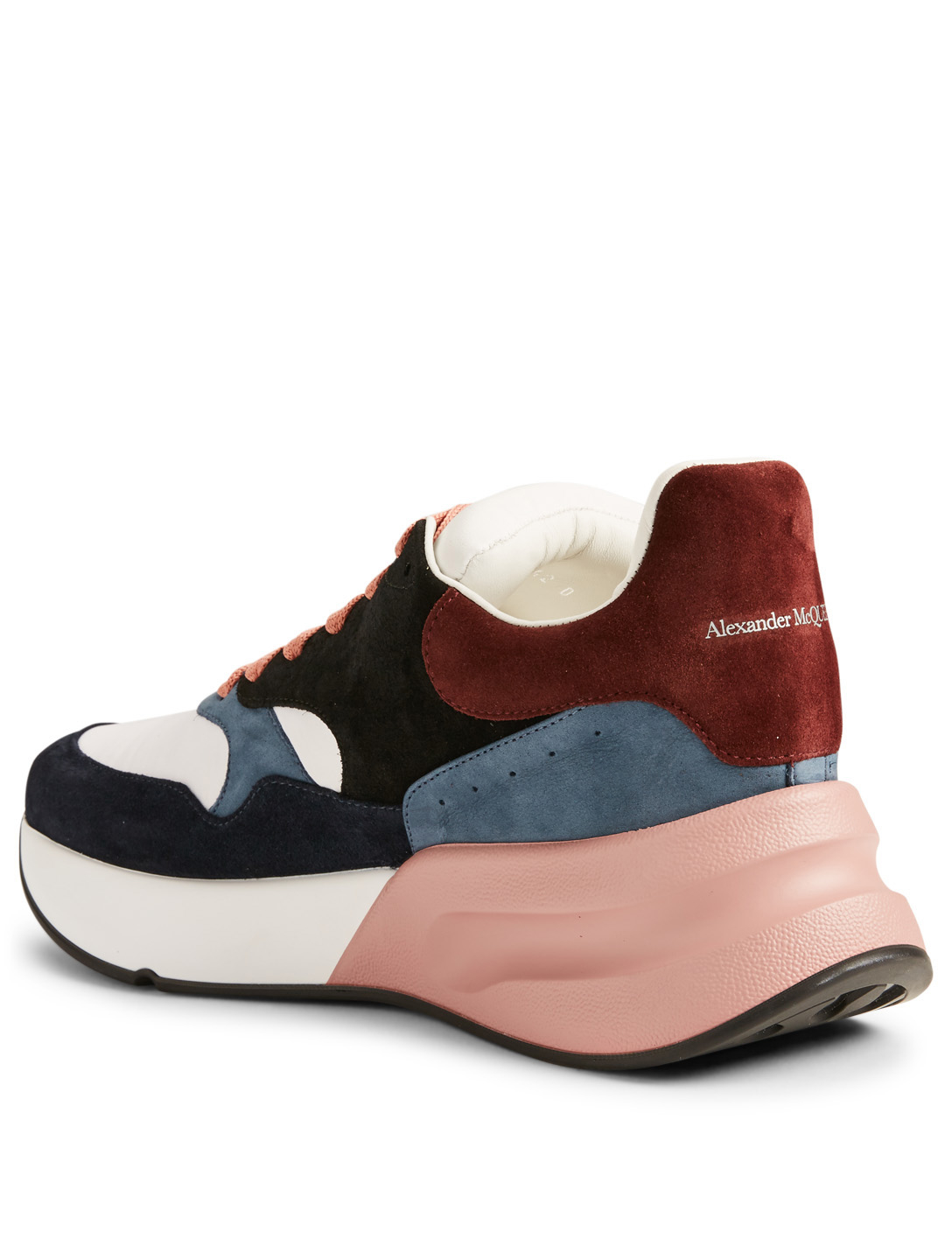 ALEXANDER MCQUEEN Oversized Leather Runner Sneakers Men's Pink
