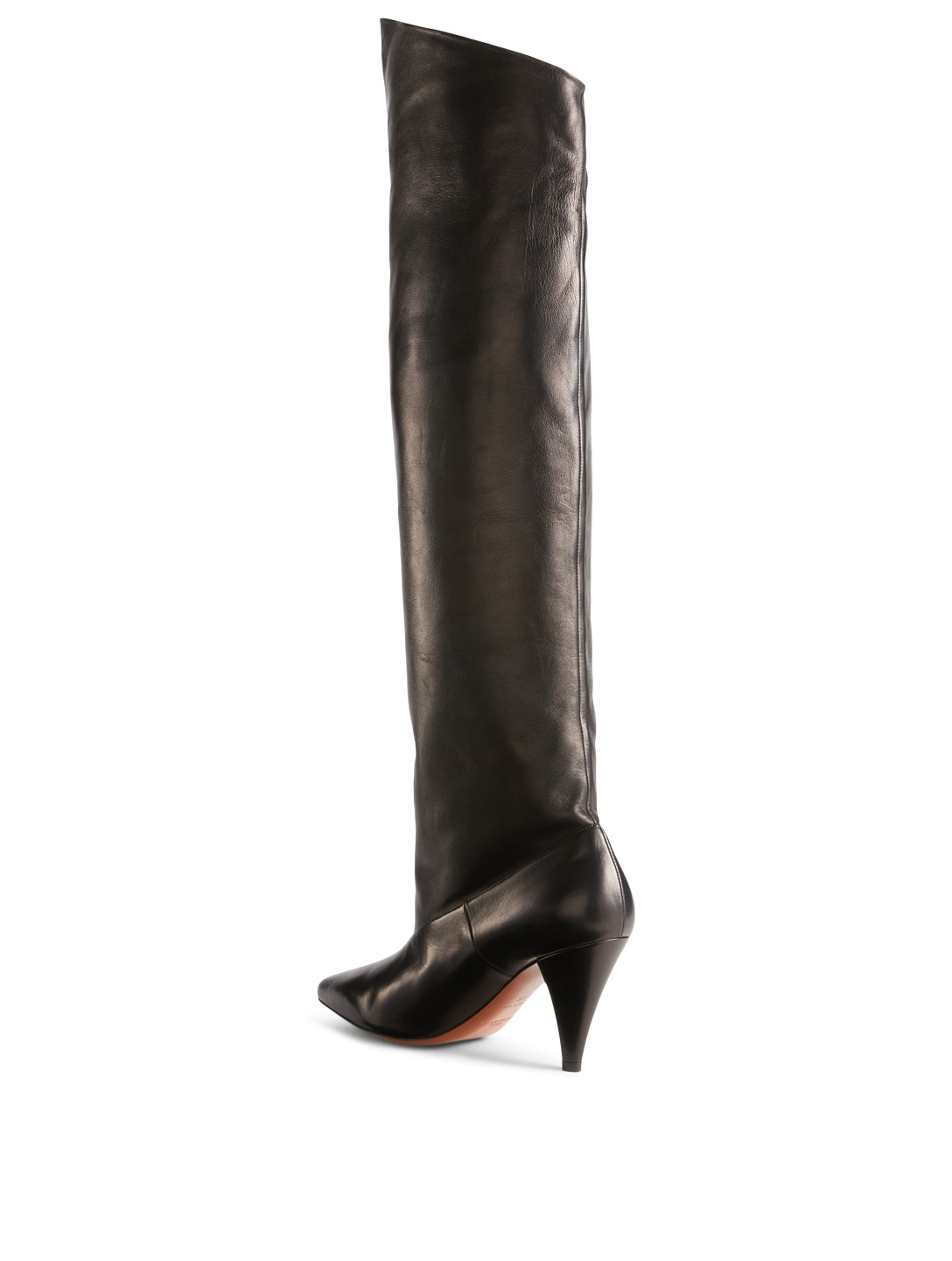 GIVENCHY Leather Knee-High Boots Womens Black