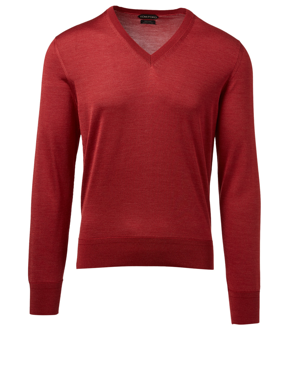 aa05e7a50a2f TOM FORD Silk V-Neck Sweater   Holt Renfrew