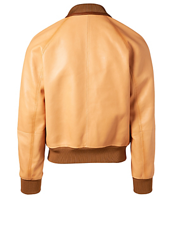 TOM FORD Leather Jacket Men's Neutral