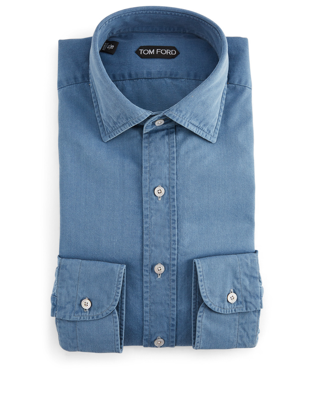 TOM FORD Denim Shirt Men's Blue