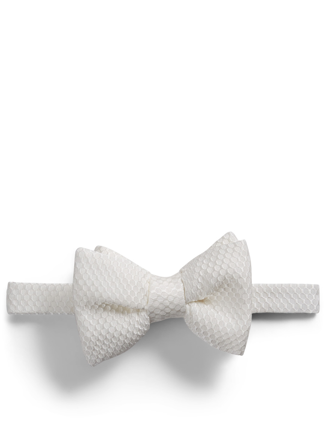 TOM FORD Honeycomb Bow Tie Men's White