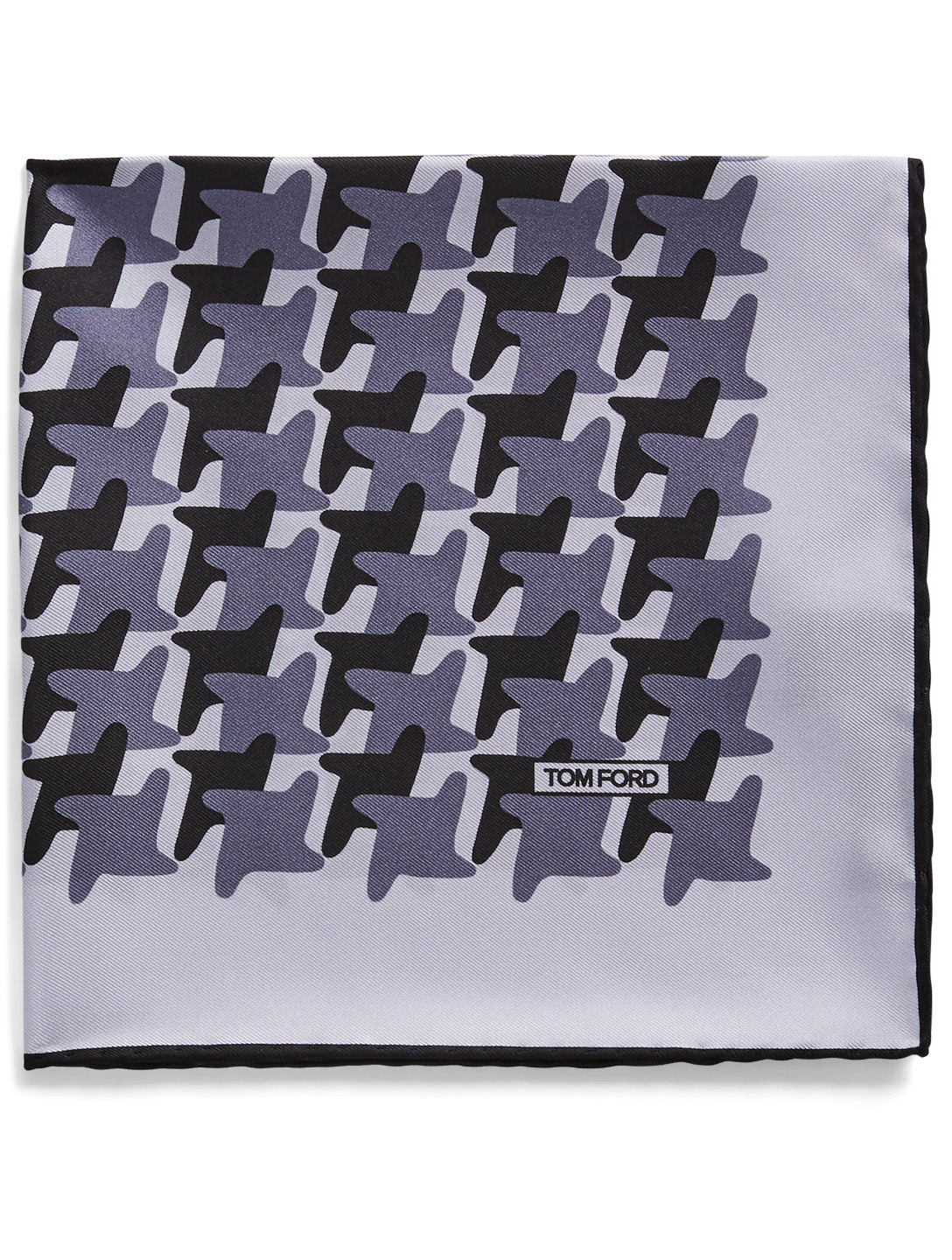 TOM FORD Silk Pocket Square In Houndstooth Men's Purple