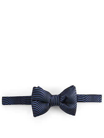 TOM FORD Silk Bow Tie In Wave Pattern Men's Blue