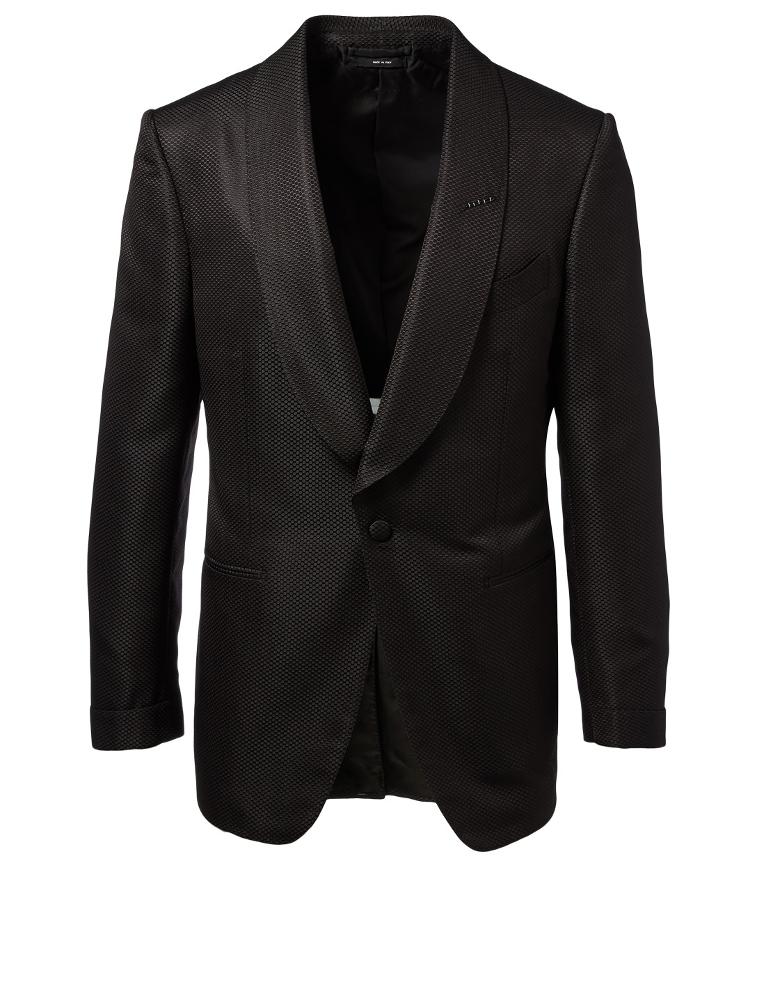 TOM FORD Honeycomb Sharkskin Jacket Men's Black