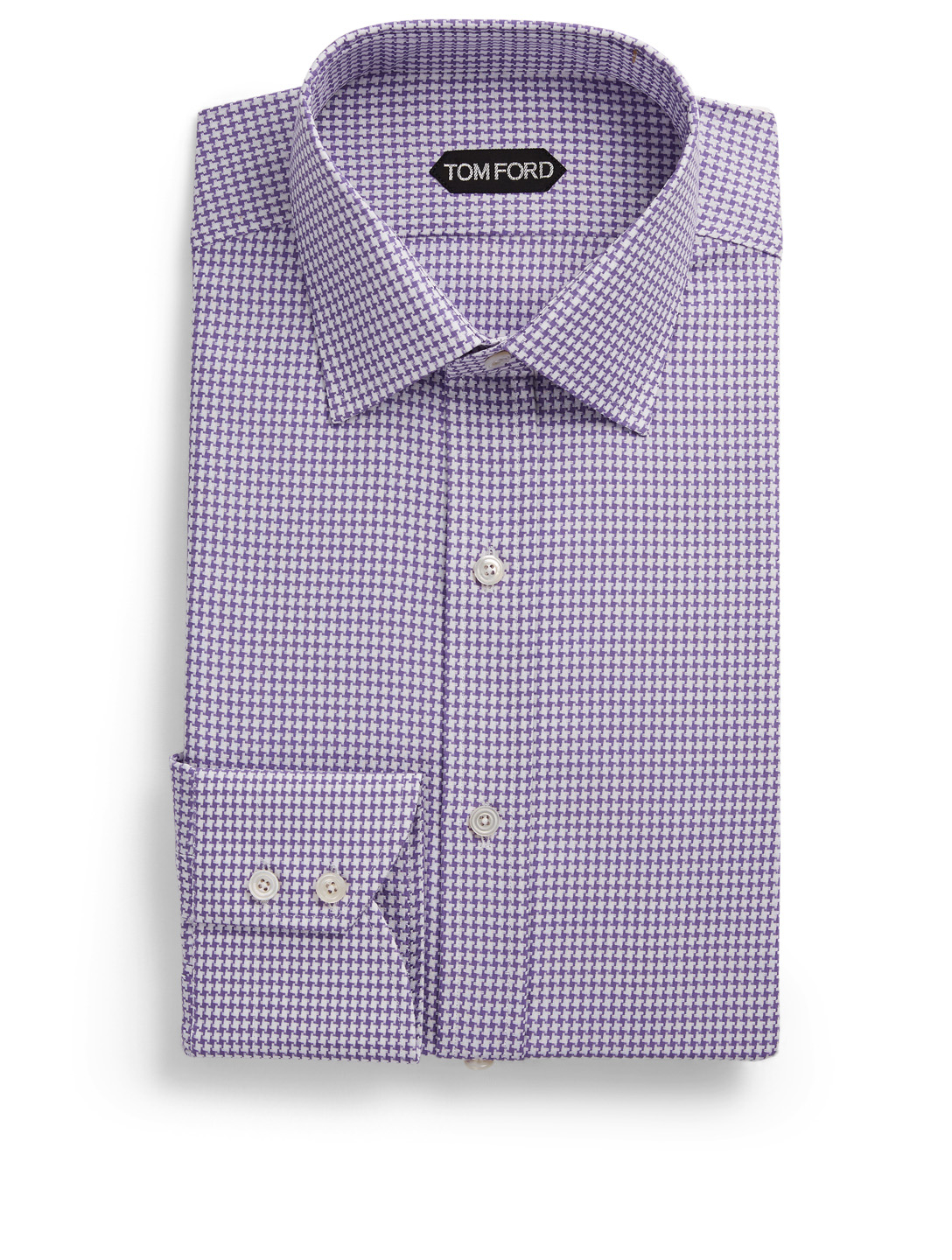 TOM FORD Dress Shirt In Houndstooth Men's Purple