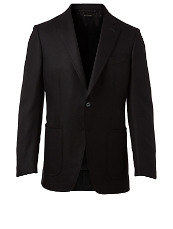 TOM FORD O'Connor Wool And Cashmere Hopsack Jacket Men's Black