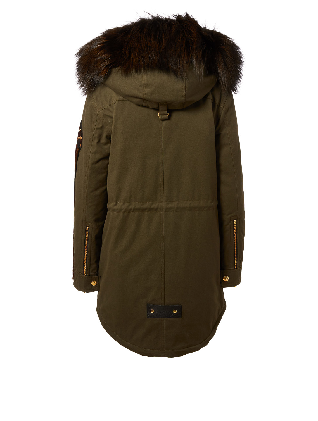 MOOSE KNUCKLES Superfreak Patch Parka With Fur Trim Womens Green