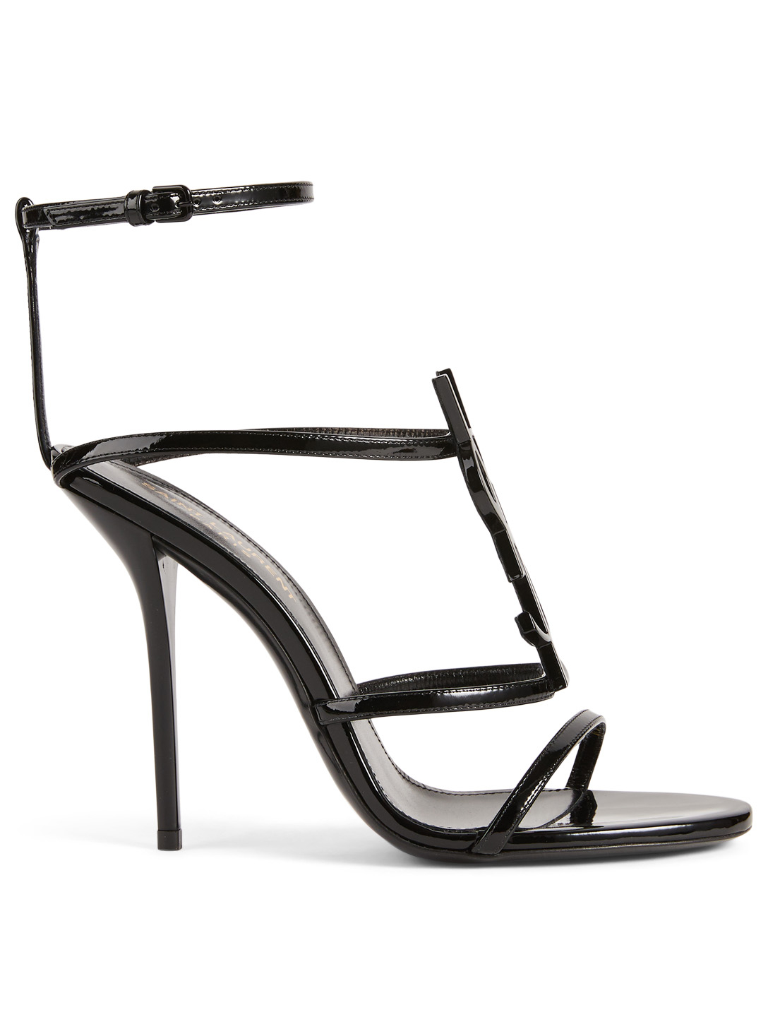 f197fd9a22de SAINT LAURENT Cassandra Patent Leather Heeled Sandals