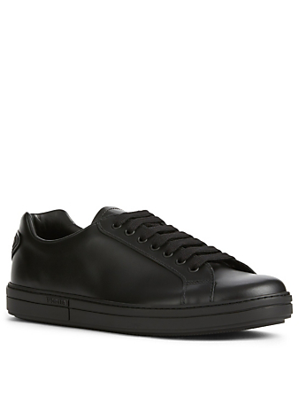 PRADA LINEA ROSSA Leather Logo Sneakers Men's Black