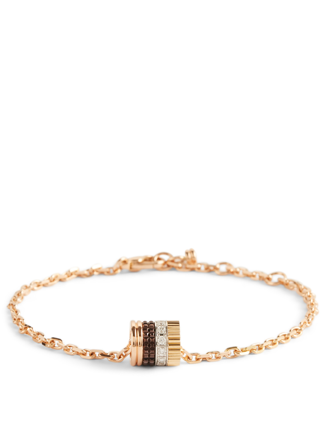 BOUCHERON Quatre Classique Gold Chain Bracelet With PVD And Diamonds Womens Metallic