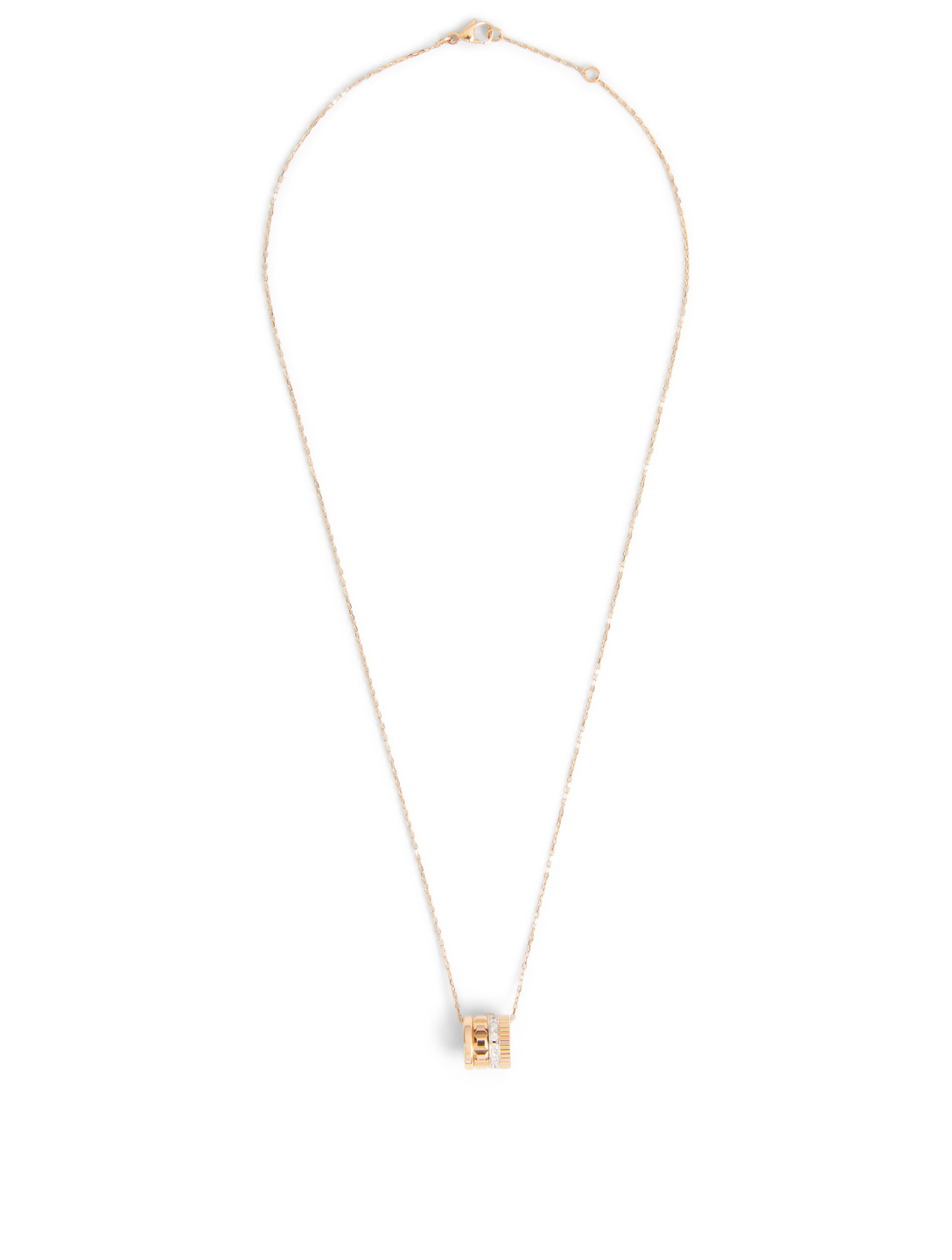 BOUCHERON Radiant Edition Quatre Rose Gold Pendant Necklace With Diamonds Women's Metallic