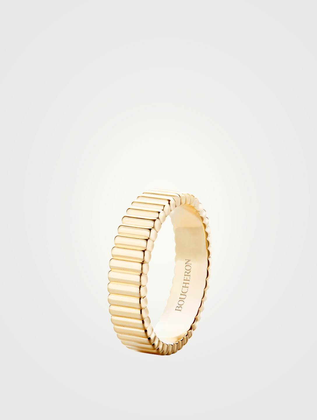 BOUCHERON Quatre Grosgrain Gold Ring Womens Gold
