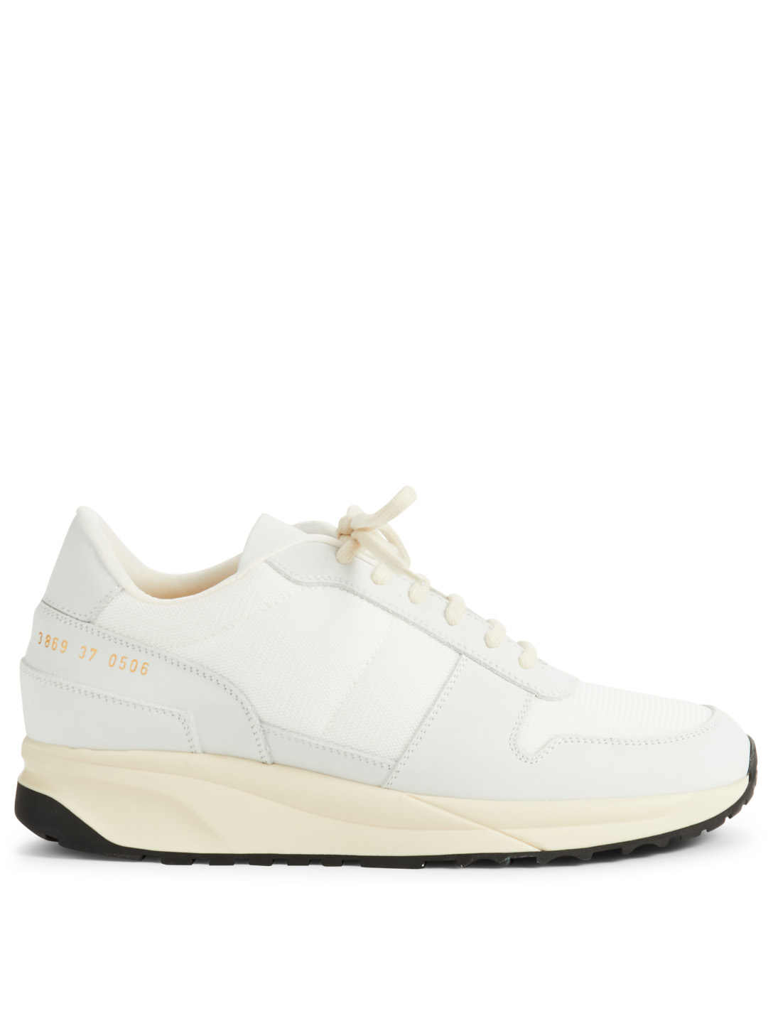 COMMON PROJECTS Track Vintage Leather And Mesh Sneakers Womens White