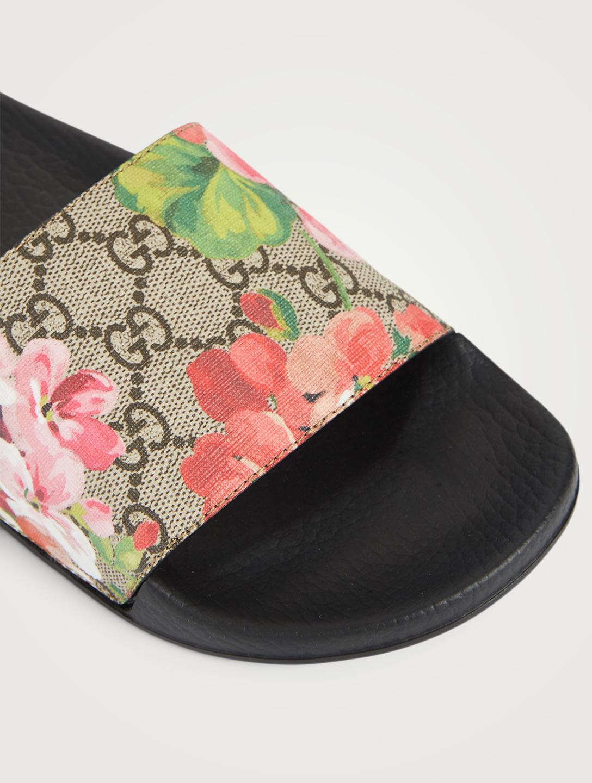287111d7af7 ... GUCCI GG Blooms Supreme Slide Sandals Women s Neutral