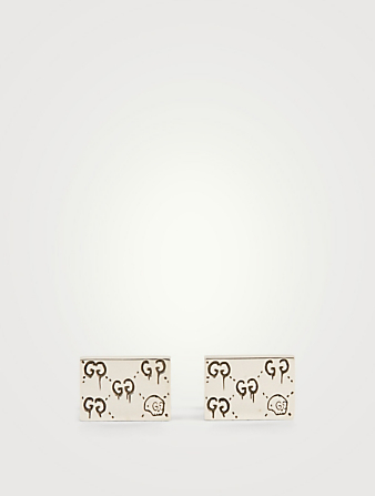 GUCCI GucciGhost Sterling Silver Cufflinks Designers Silver