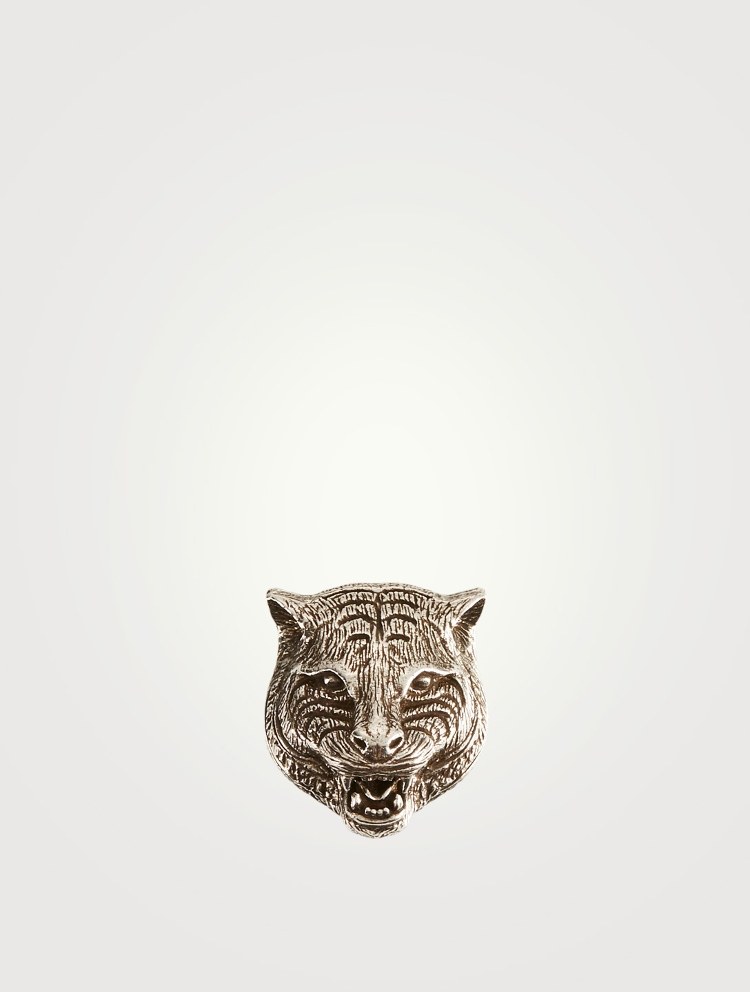 GUCCI Sterling Silver Feline Head Money Clip Designers Silver