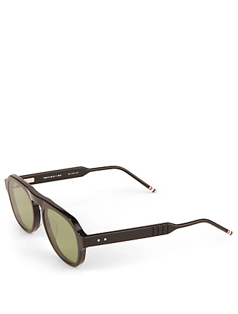THOM BROWNE Aviator Sunglasses Men's Black