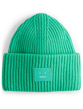 ACNE STUDIOS Pansy N Face Wool Toque Womens Green