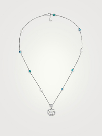 5eb95174f GUCCI GG Marmont Sterling Silver Necklace Women's Silver