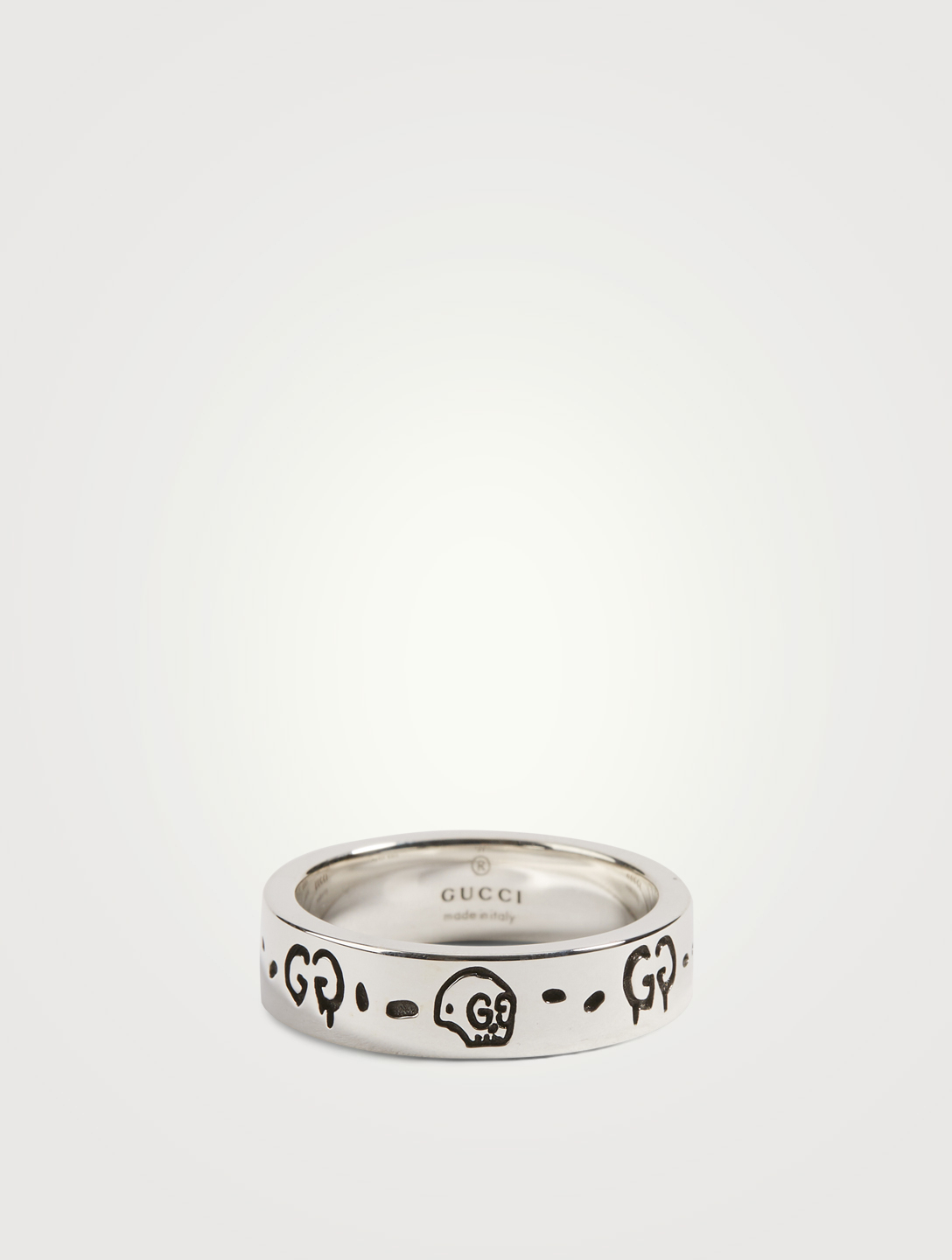 GUCCI GucciGhost Silver Ring Women's Metallic