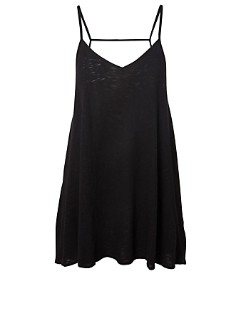 VITAMIN A Paloma Knit Mini Dress H Project Black