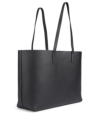 SAINT LAURENT East West Leather Tote Bag Women's Black