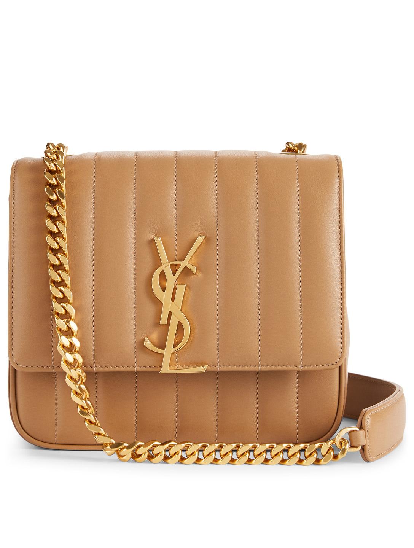 15bd93399f0 SAINT LAURENT Medium Vicky Monogram Leather Chain Bag Women's Neutral ...