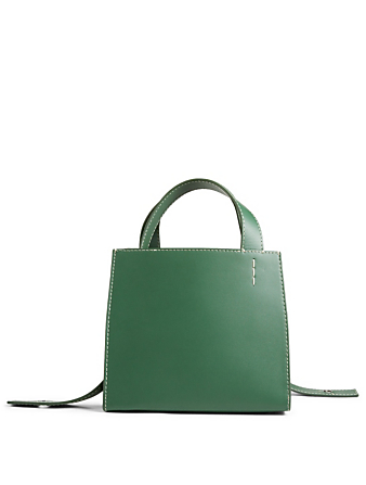 DANSE LENTE Margot Leather Tote Bag With Convertible Strap Women's Green