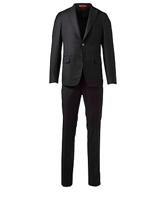 ISAIA Cortina Wool Two-Piece Suit Men's Black