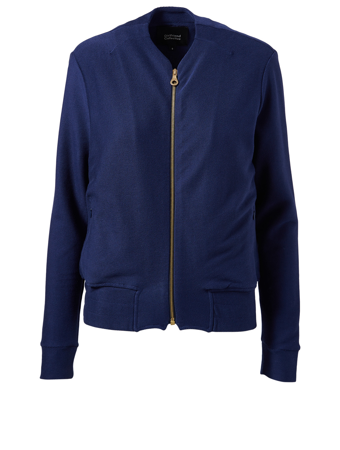 GIRLFRIEND COLLECTIVE Lux Organic Pima Cotton Jacket H Project Blue
