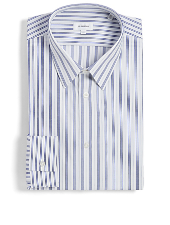 JIL SANDER Poplin Shirt In Stripe Men's White