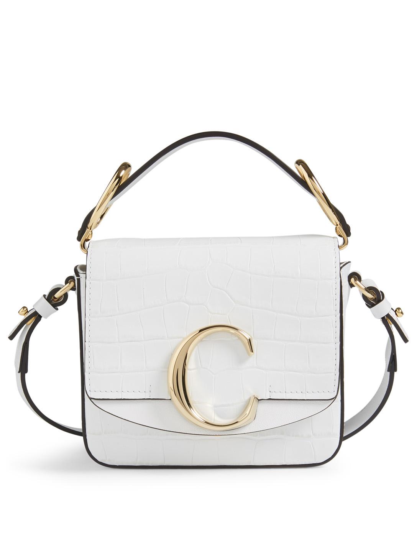 d5e62b8b23 CHLOÉ Mini Chloé C Croc-Embossed Leather Bag | Holt Renfrew