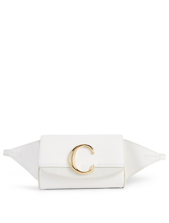 CHLOÉ Chloé C Leather Belt Bag Women's White